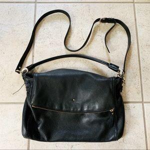 •Kate Spade• Black Leather Crossbody Flap Bag